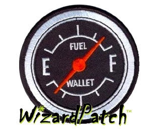 FUEL GUAGE FUNNY DISC Patch 3 INCH