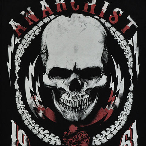 ANARCHIST REBELLION MC HIGH QUALITY COTTON PRINTED T-SHIRT REGULAR FIT