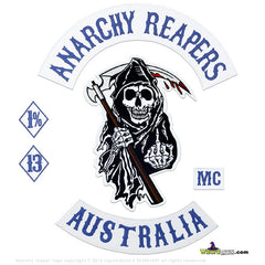 NEW ANARCHY REAPERS 6PC BIKER SET BY WIZARD PATCH