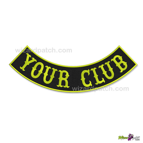 B1 Style Bottom Lower Embroidered ROCKER Badge patches, real biker wear, genuine real quality full size rockers