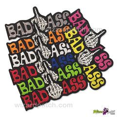 BAD ASS FINGER 10 INCH WIDE wizard embroidered patch best quality