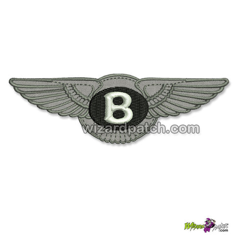BENTLEY MOTORS LOGO EMBROIDERED BADGE WING PATCH