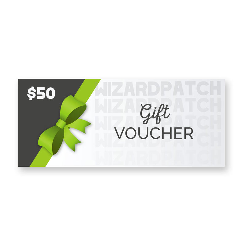 Wizard Patch Gift Cards, Give the gift of choice!