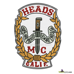 HEADS MC CALIFORNIA BACKPATCH EMBROIDERED FROM THE MOVIE CC & COMPANY