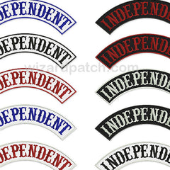 INDEPENDENT EMBROIDERED BIKER ROCKER PATCH HIGH QUALITY STITCHING