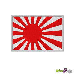 JAPANESE KAMIKAZE RISING SUN EMBROIDERED FLAG PATCH 3.5