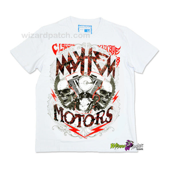 MAYHEM MOTORS CLASSIC VINTAGE HIGH QUALITY COTTON PRINTED T-SHIRT REGULAR FIT
