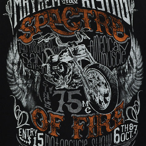 MAYHEM SPECTRE OF FIRE COTTON PRINTED T-SHIRT