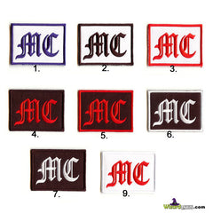 EMBROIDERED PATCHES MC BIKER OLDE ENGLISH FONT STYLE