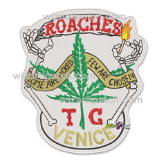 NEW ROACHES CHEECH AND CHONG LAST MOVIE TC-RARE LIMITED EDITION FULL SIZE BADGE IRON ON BACK EMBROIDERED LOGO PATCH