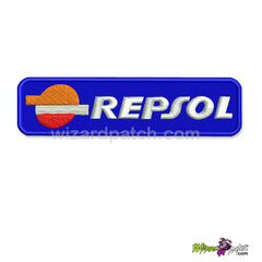 REPSOL BRAND LOGO 4 INCH BAR embroidered patch