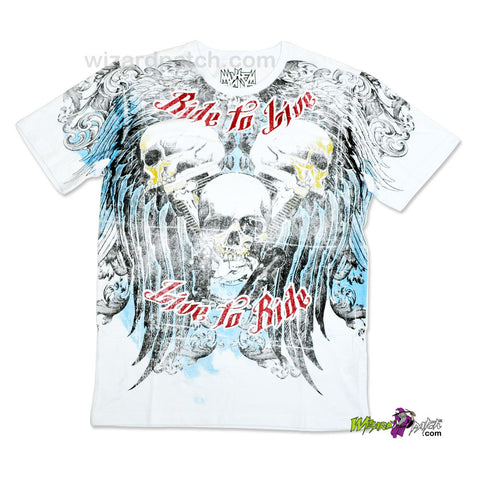 RIDE TO LIVE, LIVE TO RIDE HIGH QUALITY COTTON PRINTED T-SHIRT REGULAR FIT