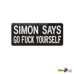 SIMON SAYS FUNNY EMBROIDERED BADGE LOGO PATCH BIKER VEST NAME TAG STRIP