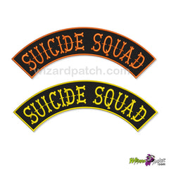 SUICIDE SQUADE EMBROIDERED VEST OR JACKET ROCKER BADGE SEW ON WIZARD PATCH YOUR CHOICE ANY COLOUR