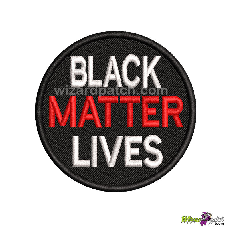 SUPPORT BLACK LIVES MATTER MOVEMENT EMBROIDERED BADGE LOGO DISC PATCH EQUALITY RESPECT