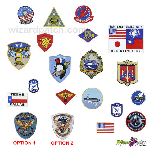 8a393c10ca7 Sale TOP GUN COMPLETE EMBROIDERED G1 FLIGHT JACKET PATCH SET ...