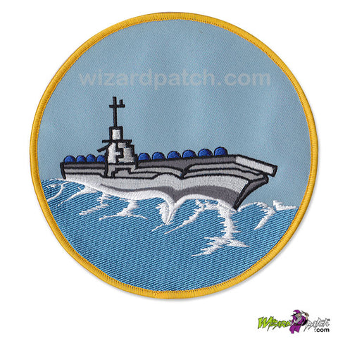 TOP GUN CVA-34 ORISKANY G1 Jacket EMBROIDERED WIZARD Patch