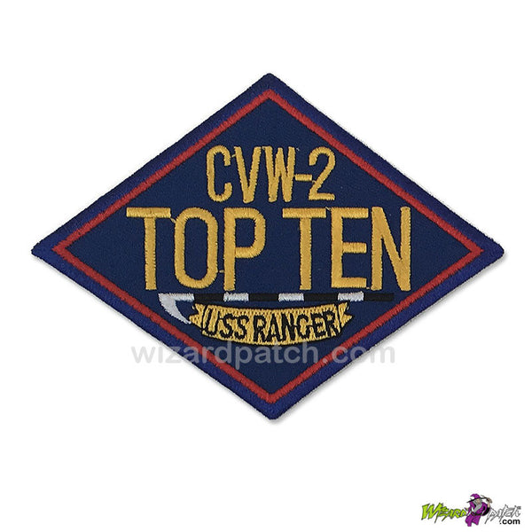 TOP GUN CVW 2 TOP TEN USS RANGERS G1 Jacket BADGE EMBROIDERED Patch