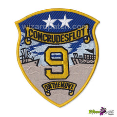 TOP GUN USN COMCRUDESFLOT 9 EMBROIDERED G1 FLIGHT JACKET PATCH