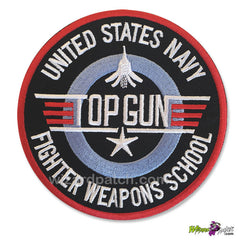 TOP GUN USN FIGHTER WEAPONS SCHOOL G1 flight Jacket BADGE embroidered DISC Patch