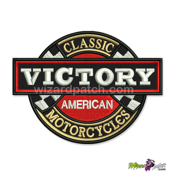 VICTORY AMERICAN CLASSIC MOTORCYCLES 4 INCH embroidered patch