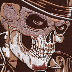 ace skull in top hat detailed embroidered patch