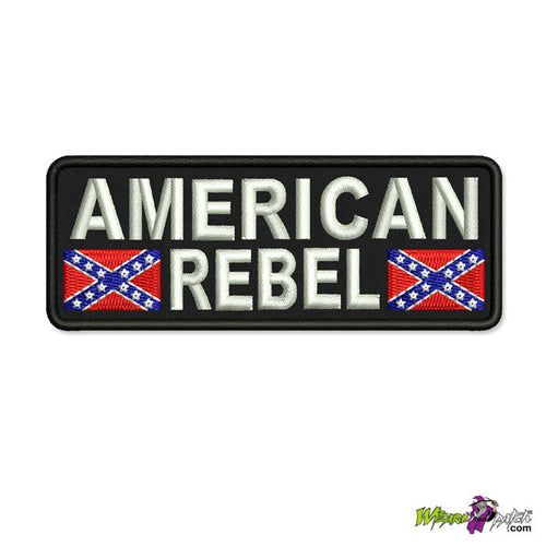 AMERICAN REBEL CONFEDERATE EMBROIDERED TAG PATCH