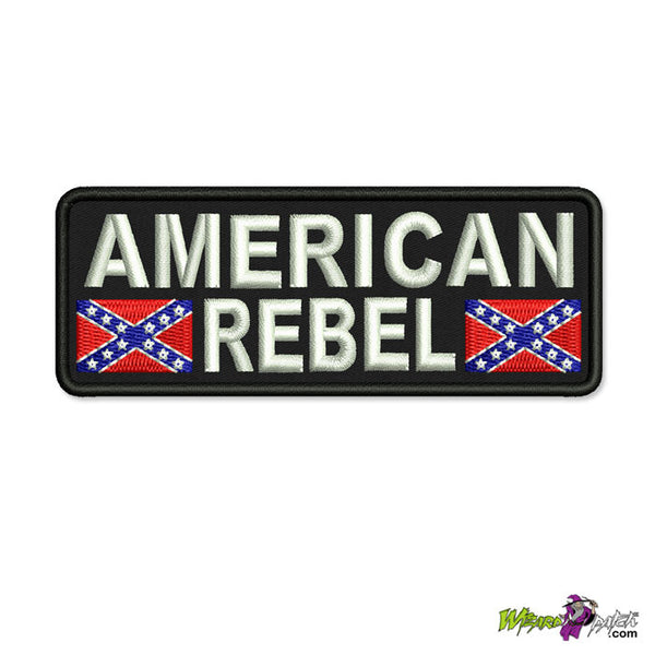 american rebel biker embroidered patch 4 inch wizard vest badge