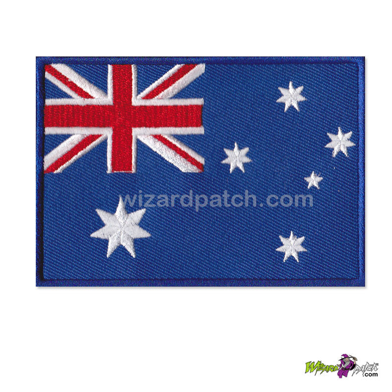 aussie embroidered australian flag wizard patch embroidery