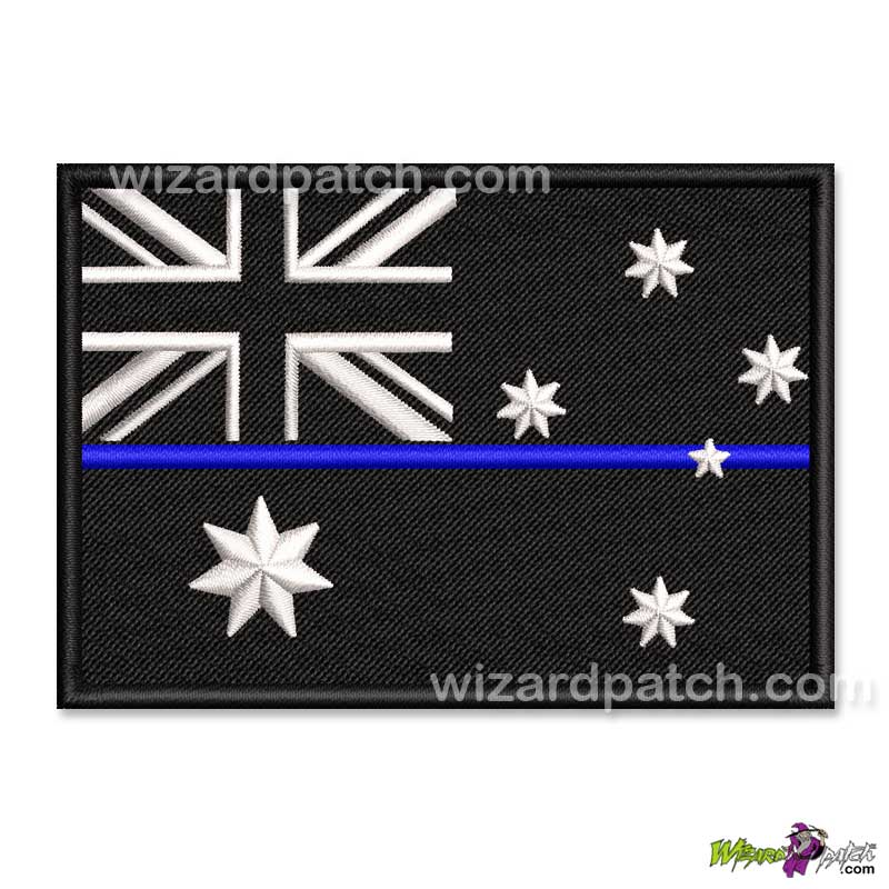 australia tbl flag badge embroidered patch thin blue line tbl law enforcement police policing solidarity support officers australian flags