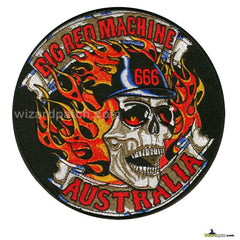 BIG RED MACHINE AUSTRALIA EMBROIDERED DISC PATCH