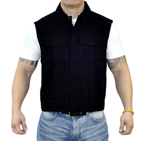 OUTLAW APPAREL™  PREDATOR DENIM VEST WITH BACK PATCH