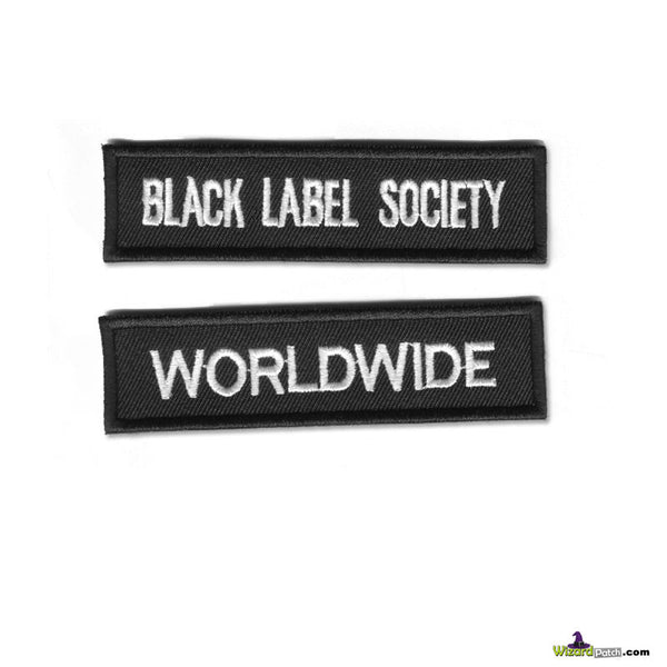 Black Label Society music BLS BAR TAG STRIP embroidered vest patches zack wyld
