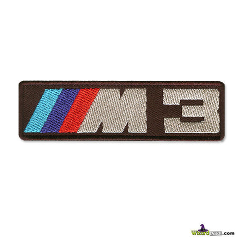 BMW M3 BRAND LOGO BAR Patch 4 inch WIDE