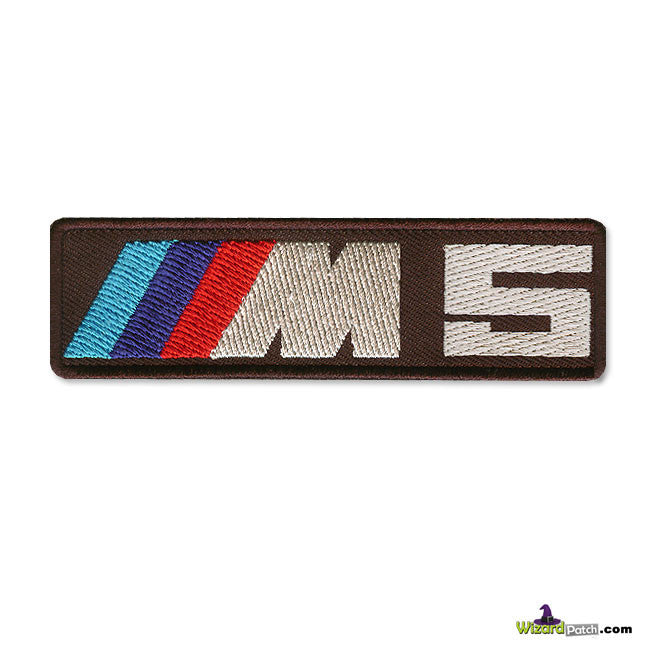 BMW M5 BRAND LOGO BAR Patch 4 inch WIDE