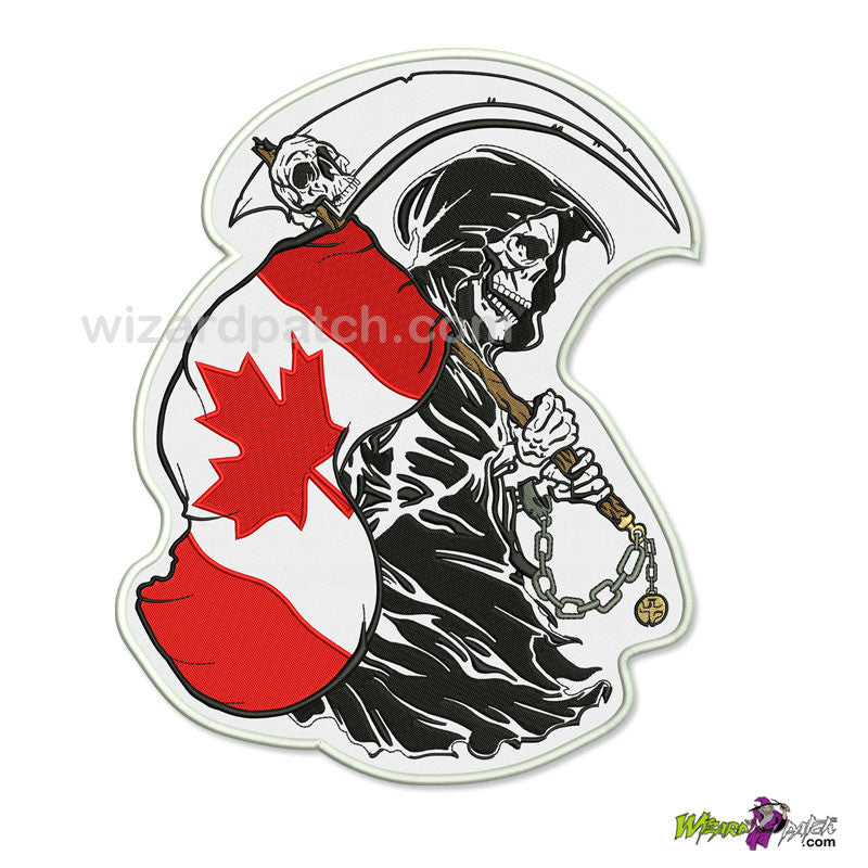 REAPER WITH FLAG LARGE BACK PATCH CHOOSE YOUR COUNTRY