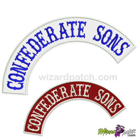 CONFEDERATE SONS TOP ROCKER ANY COLOUR!