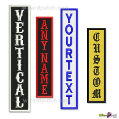 CUSTOM VERTICAL TAGS - ANY SIZE , MAKE YOUR OWN PATCHES, CHOOSE YOUR OWN PATCH SET! MAKE YOUR OWN MC CUT.