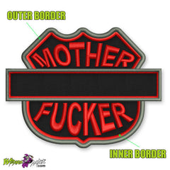 MOTHER FUCKER PATCH YOUR TEXT YOUR COLOURS CUSTOM MADE BY WIZARD PATCH