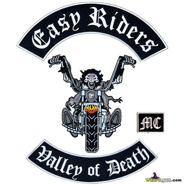EASY RIDER 4PC OUTLAW SET ANARCHY COLLECTION EMBROIDERED PATCHES