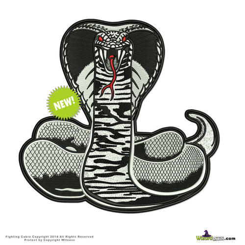 FIGHTING COBRA LARGE BACKPATCH