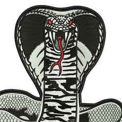 FIGHTING COBRA READY TO STRIKE FULLY 100% EMBROIDERED AND READY TO SEW ON!