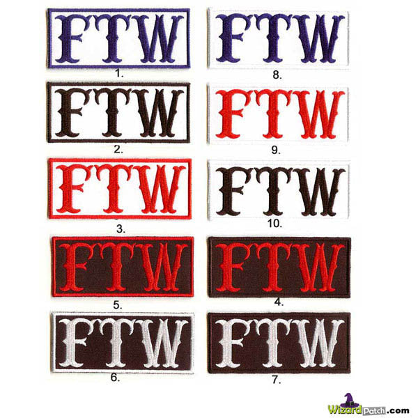 FTW EMBROIDERED PATCHES 1%ER MC BIKER SET BEST EMBROIDERY PATCH SPECIALISTS