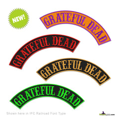 grateful dead top embroidered rocker custom choice Halloween you choose the colors