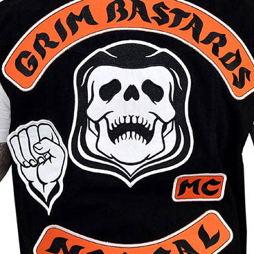 GRIM BASTARDS FILM ACCURATE VEST, ALL THE RIGHT PATCHES IN ALL THE RIGHT PLACES