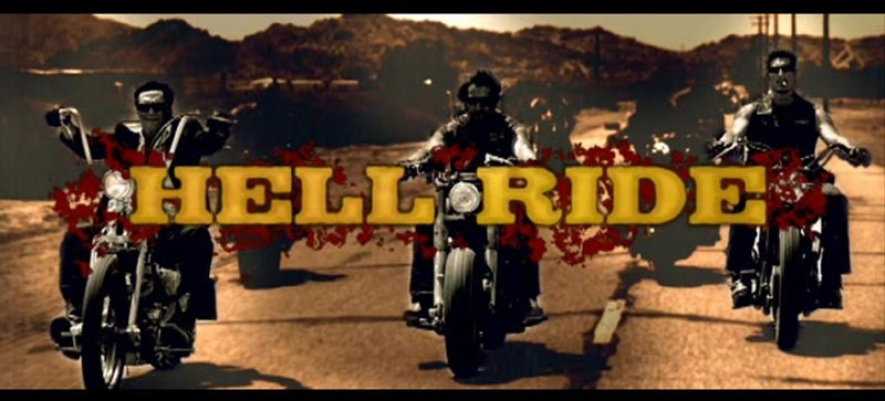 HELL RIDE MOVIE SIX SIX SIX'ers LARGE BACK PATCH