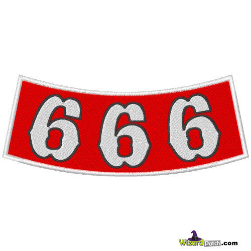 666 Embroidered Badge Biker Rocker Support Patch