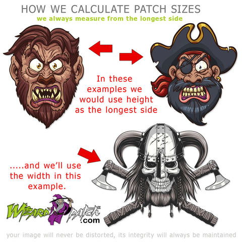 how we calculate patch sizes wizard patch embroidered perfection biker badges