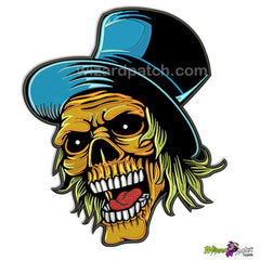 JOKER SKULL orange face blue hat wizard embroidered patch best quality