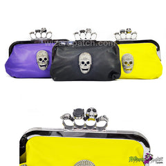 ladies soft clutch purse with additional chain carry at wizard patch